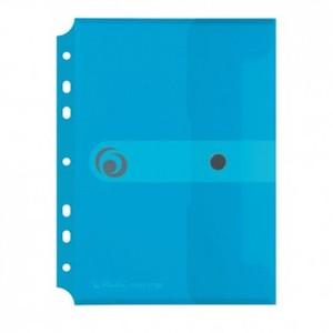 Kuverta s dugmetom, A5, uložna, polipropilen, prozirno plava, Easy orga to go, Herlitz