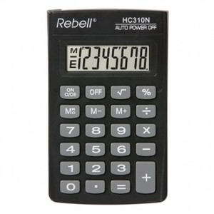Kalkulator Komercijalni Rebell HC308 black