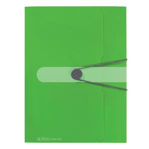 Herlitz mapa pp, A4, 3cm s gumom,  zelena