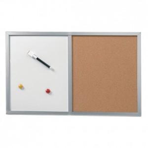 Ploča bijela/pluto zidna 60 x 40 cm, Herlitz