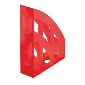 Herlitz stalak za spise, pvc, crveni prozirni