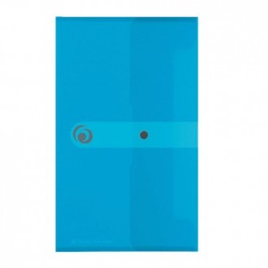 Kuverta s dugmetom, 225x130 mm, polipropilen, svijetloplava, Herlitz Easy orga to go