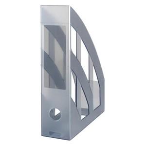 Herlitz stalak za spise, pvc, sivi prozirni