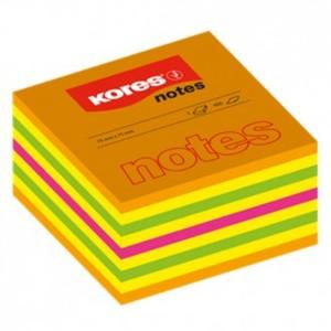 Blok kocka neon 50x50mm 4 boje 400 listova