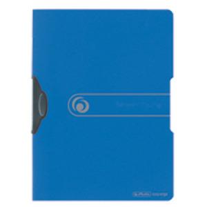 Fascikl s klip mehanizmom, A4 PP plavi, Herlitz