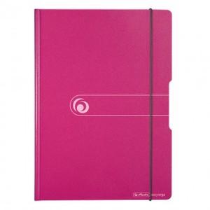 Ploča podložna PVC, sa štipaljkom, preklopom i gumicom, Herlitz Easy orga to go, A4 , roza 1 42
