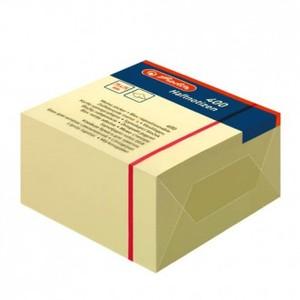 Blok kocka samoljepljiva 75 x 75 mm, 400 listića, papir, žuta, Herlitz