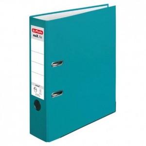 Registrator samostojeći A4, 8 cm, maX.file protect, Herlitz, tirkizni
