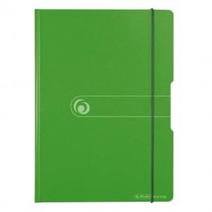 Ploča podložna PVC, sa štipaljkom, preklopom i gumicom, Herlitz Easy orga to go, A4 , zelena 1