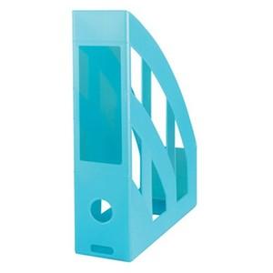 Herlitz stalak za spise, pvc, tirkiz prozirni