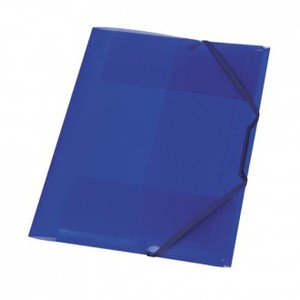 Fascikl s klapnama i gumicom, A4, PP, Herlitz, plavi