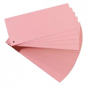 Pregrada kartonska 105 x 242 mm, 100/1, roza, Herlitz