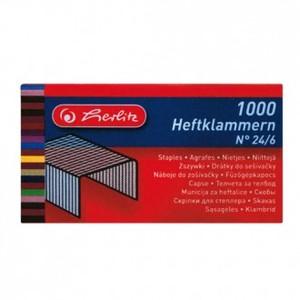 Spojnice za stroj 24/6, 2 x 1000, Herlitz