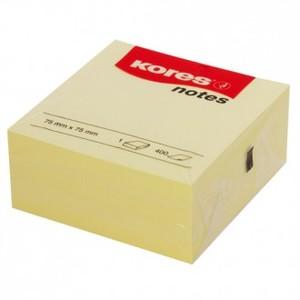 Blok žuti kocka 75x75 mm 400 listova