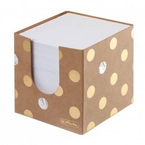 Stolna kocka s papirom, kartonska 9x9x9 cm, 700 listova, Pure Glam, Herlitz
