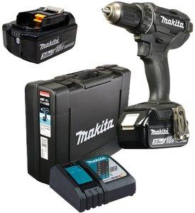 MAKITA akumulatorska bušilica-izvijač DDF482RFE3B (18V,3.0Ah,Li-ion), 2 baterije, kofer, punjač -Black Edition
