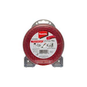 MAKITA najlonska nit, crvena 2.7 mm / 15 m E-01828