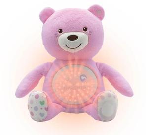 Chicco moj prvi medvjedić sa svjetiljkom i zvukom, rozi