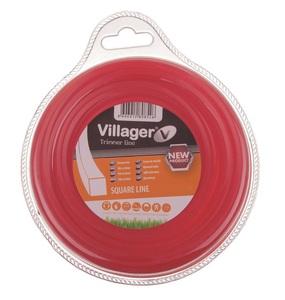 VILLAGER najlonska nit 2.4mm x 15m - červrtasta  034053