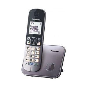 PANASONIC telefon bežični KX-TG6811FXM metalik sivi