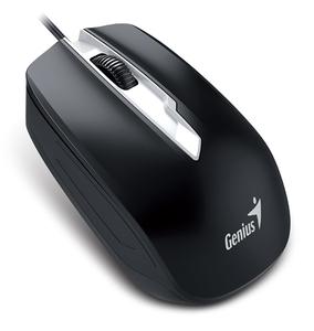 Genius miš DX-180, ergonomski, USB, 1600dpi, crni,