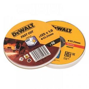 DeWalt set reznih ploča za inox 125 x 1 mm - 10 komada