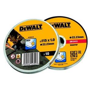 DeWalt set reznih ploča za inox 115 x 1 mm - 10 komada