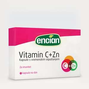 Encian VITAMIN C + Zn 30 kap