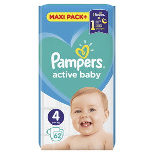 Pampers pelene jumbo maxi pack maxi (62 kom)