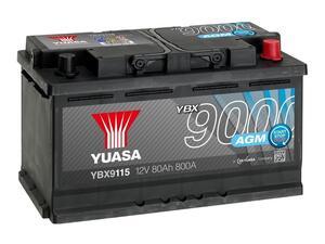 Akumulator Yuasa (9000) 12V/80Ah D+   (start/stop)