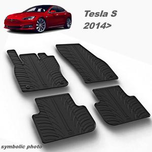 Gumeni auto tepisi za Tesla S - komplet prednji i zadnji