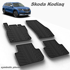 Gumeni auto tepisi za Škoda Kodiaq - komplet prednji i zadnji