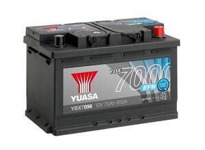 Akumulator Yuasa (7000) 12V/70Ah D+  (start/stop)