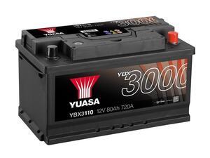 Akumulator Yuasa (3000 Premium) 12V/80Ah D+