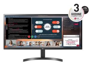 LG monitor 34WL500-B, IPS, UltraWide, HDR10, HDMI, AMD FreeSync