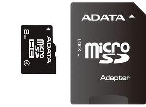 Memorijska kartica microSD Adata  8GB HC Class4 + adapter