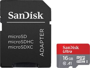 Memorijska kartica microSD SanDisk Ultra, A1, U1 16GB