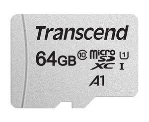 Memorijska kartica Transcend microSD 64GB HC Class 10 UHS-I + SD adapter 300S