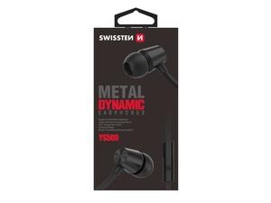 SWISSTEN DYNAMIC YS500 slušalice, In-ear, metalne, crne
