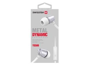 SWISSTEN DYNAMIC YS500 slušalice, In-ear, metalne, srebrno/bijele