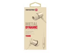 SWISSTEN DYNAMIC YS500 slušalice, In-ear, metalne, zlatne