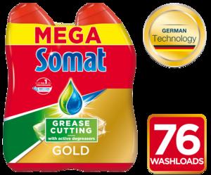 Somat GEL Gold Antigrease 2x684ml, do 76pranja