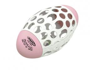 Jamara didaktička igračka za razvoj motorike, ragbi lopta s otvorima, roza
