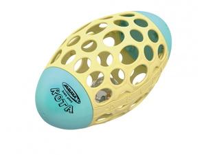 Jamara didaktička igračka za razvoj motorike, ragbi lopta s otvorima, plava