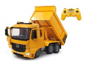 Jamara kamion na daljinsko upravljanje, kiper Mercedes Arocs, žuti 1:20