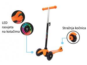 Jamara romobil za djecu, 3 kotača, svjetla na kotačima, narančasti