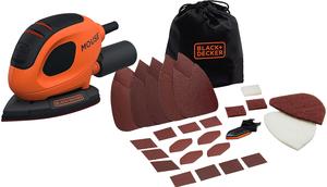 BLACK & DECKER vibracijska brusilica Mouse 55W +10 kom brusnih papira u koferu - BEW230BCA