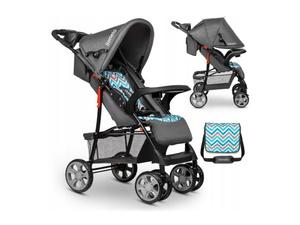 Lionelo dječja kolica EMMA PLUS siva-plava-scandi + torba za mamu