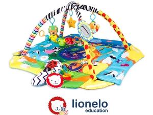 Lionelo dječja podloga za igru - edukativni madrac s igračkama, plava Anika plus