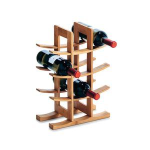 ZELLER stalak za boce za vino, bambus, 29x16x42 cm 13580
